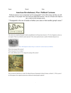 American Revolutionary War: Political Cartoons
