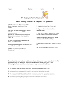 4.4-Rivalry in North America  After reading section 4.4, complete the questions. Name: