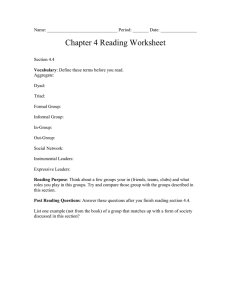 Chapter 4 Reading Worksheet