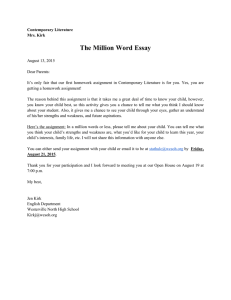 The Million Word Essay