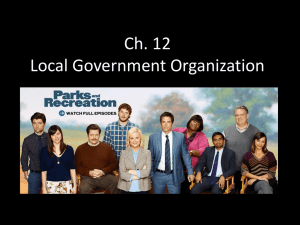 Ch. 12 Local Government Organization