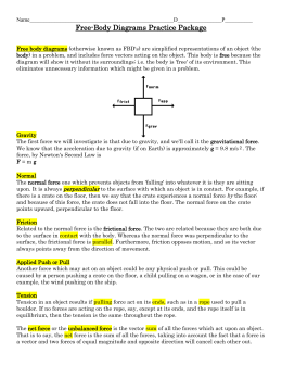 Free-Body Diagrams Worksheet