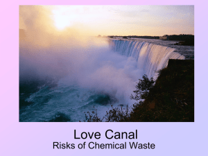 Love Canal Risks of Chemical Waste