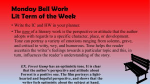 Monday Bell Work Lit Term of the Week