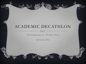 ACADEMIC DECATHLON The Fundamentals of  AP Music Theory By Sabino Otero