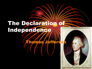 The Declaration of Independence Thomas Jefferson