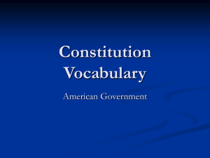 Constitution Vocabulary American Government