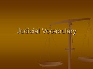 Judicial Vocabulary