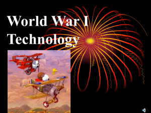 World War I Technology