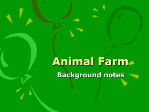 Animal Farm Background notes