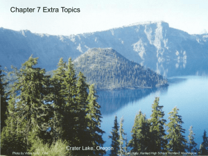 Chapter 7 Extra Topics Crater Lake, Oregon