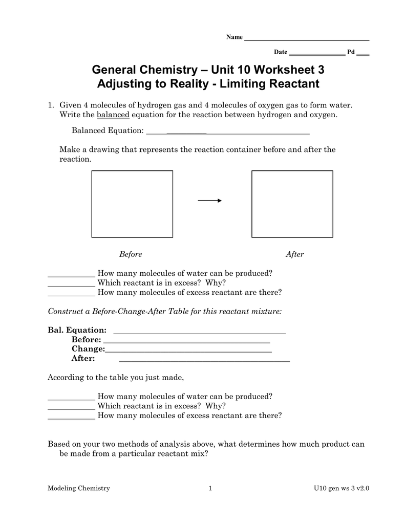 worksheet Chemistry Unit 1 Worksheet 3 unit 10 worksheet 3 general chemistry chemistry