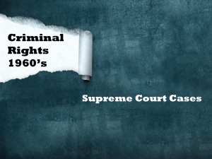 Criminal Rights 1960's Supreme Court Cases