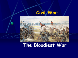 Civil War The Bloodiest War