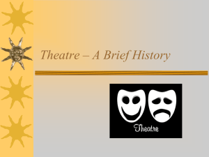 Theatre – A Brief History