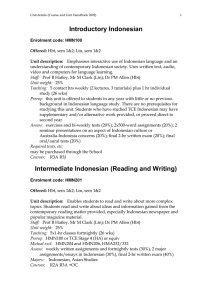 Introductory Indonesian