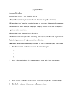 Chapter 9 Outline  Learning Objectives