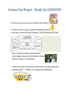 Find out how to set up a Science Fair Project