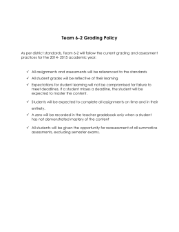 Team 6-2 Grading Policy