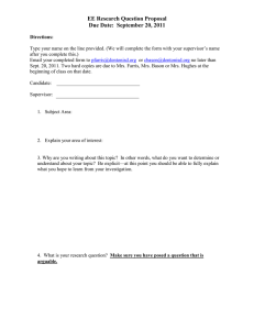 EE Research Question Proposal Due Date:  September 20, 2011