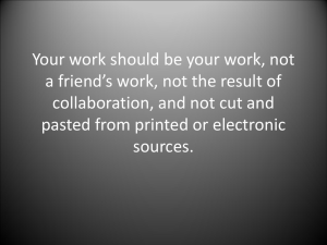 Your work should be your work, not