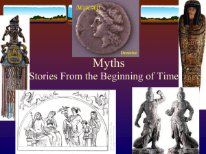 Myths Stories From the Beginning of Time