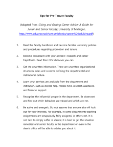 Giving and Getting Career Advice: A Guide for
