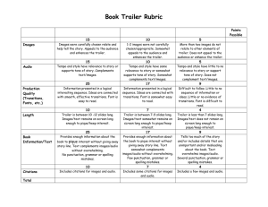 Book Trailer Rubric  Points Possible
