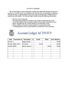 ACCOUNT LEDGERS