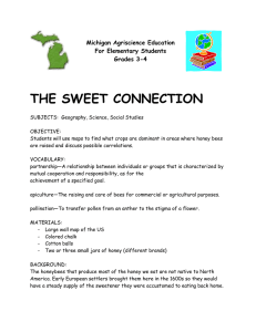 THE SWEET CONNECTION Michigan Agriscience Education For Elementary Students