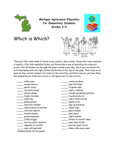 Which is Which?  Michigan Agriscience Education For Elementary Students