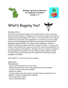 What's Bugging You? Michigan Agriscience Education For Elementary Students
