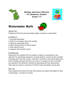 Watermelon Math Michigan Agriscience Education For Elementary Students