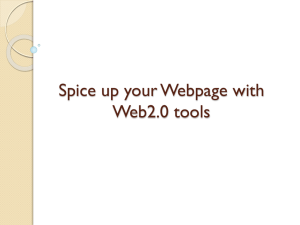 Spice up your Webpage with Web2.0 tools