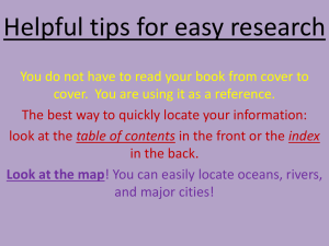 Helpful tips for easy research