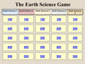 The Earth Science Game 100 200 300