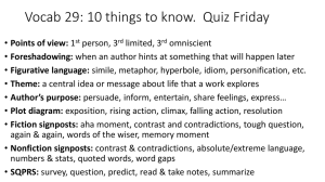 Vocab 29: 10 things to know.  Quiz Friday