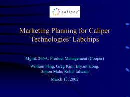 Marketing Planning for Caliper Technologies' Labchips