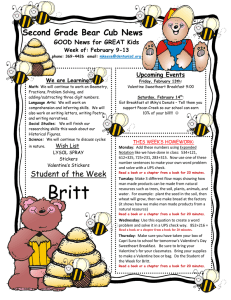 Second Grade Bear Cub News