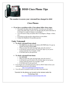 DISD Cisco Phone Tips  Cisco Phones