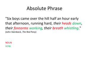 Absolute Phrase their .""