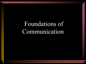 Foundations of Communication