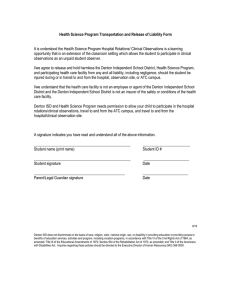 Health Science Program Transportation and Release of Liability Form