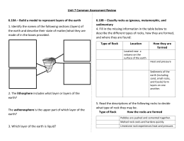 Unit 7 Common Assessment Review