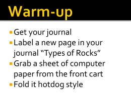 Get your journal Label a new page in your