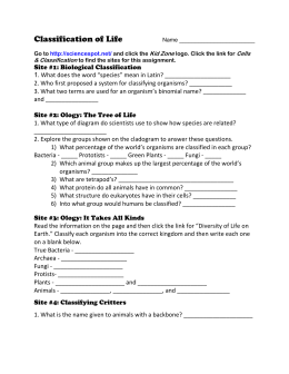 Classification Of Organisms Worksheets Worksheets for all ...