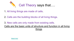 Cell Theory says that….