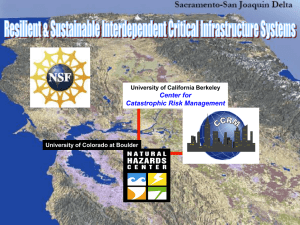 Center for Catastrophic Risk Management 1 University of California Berkeley