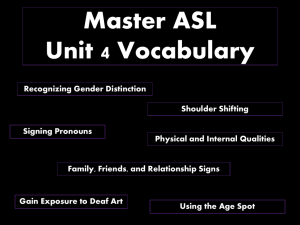 Master ASL Unit 4 Vocabulary