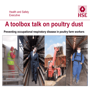 A toolbox talk on poultry dust Health and Safety Executive